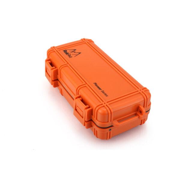 Orange RokPak closed carabiner side