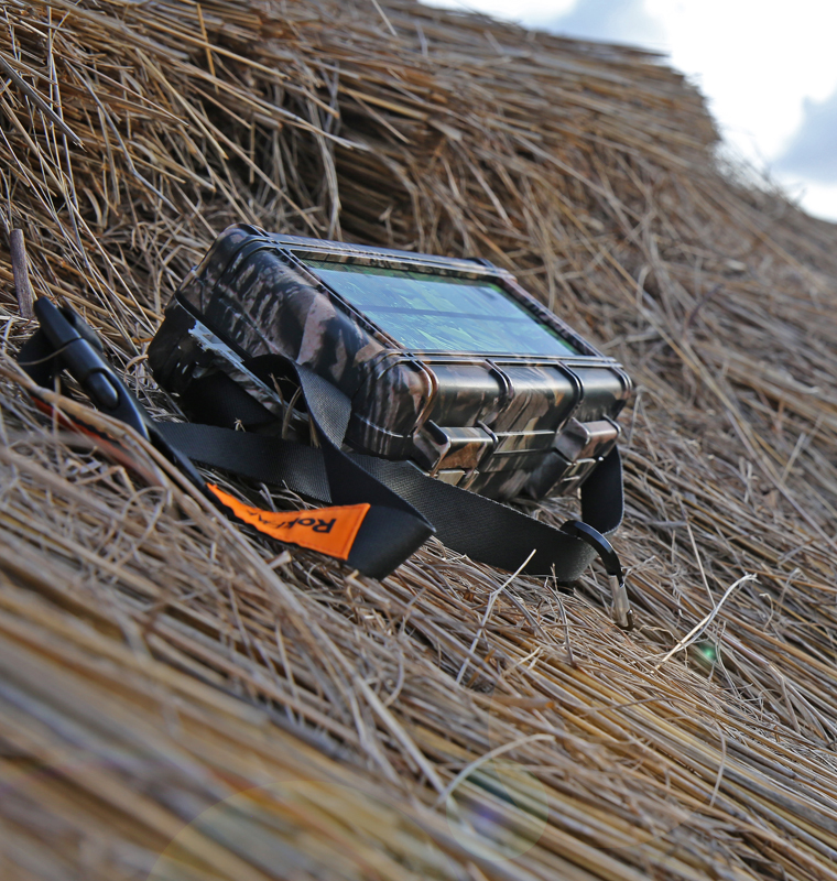 Camo RokPak on Thatched Roof